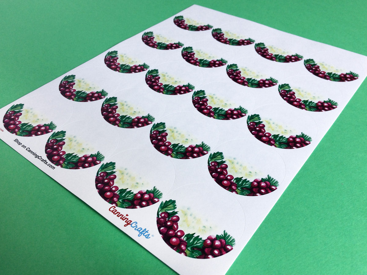 Watercolor Grape Canning Labels | CanningCrafts.com