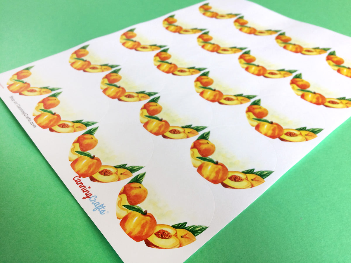 Watercolor Peach Canning Labels | CanningCrafts.com