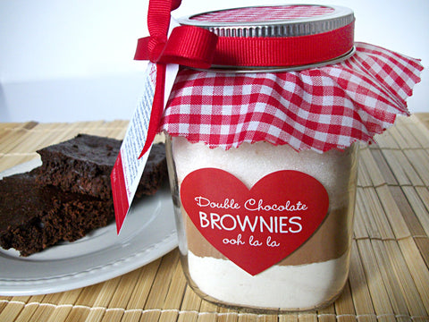 brownie mason jar mix gift | CanningCrafts.com
