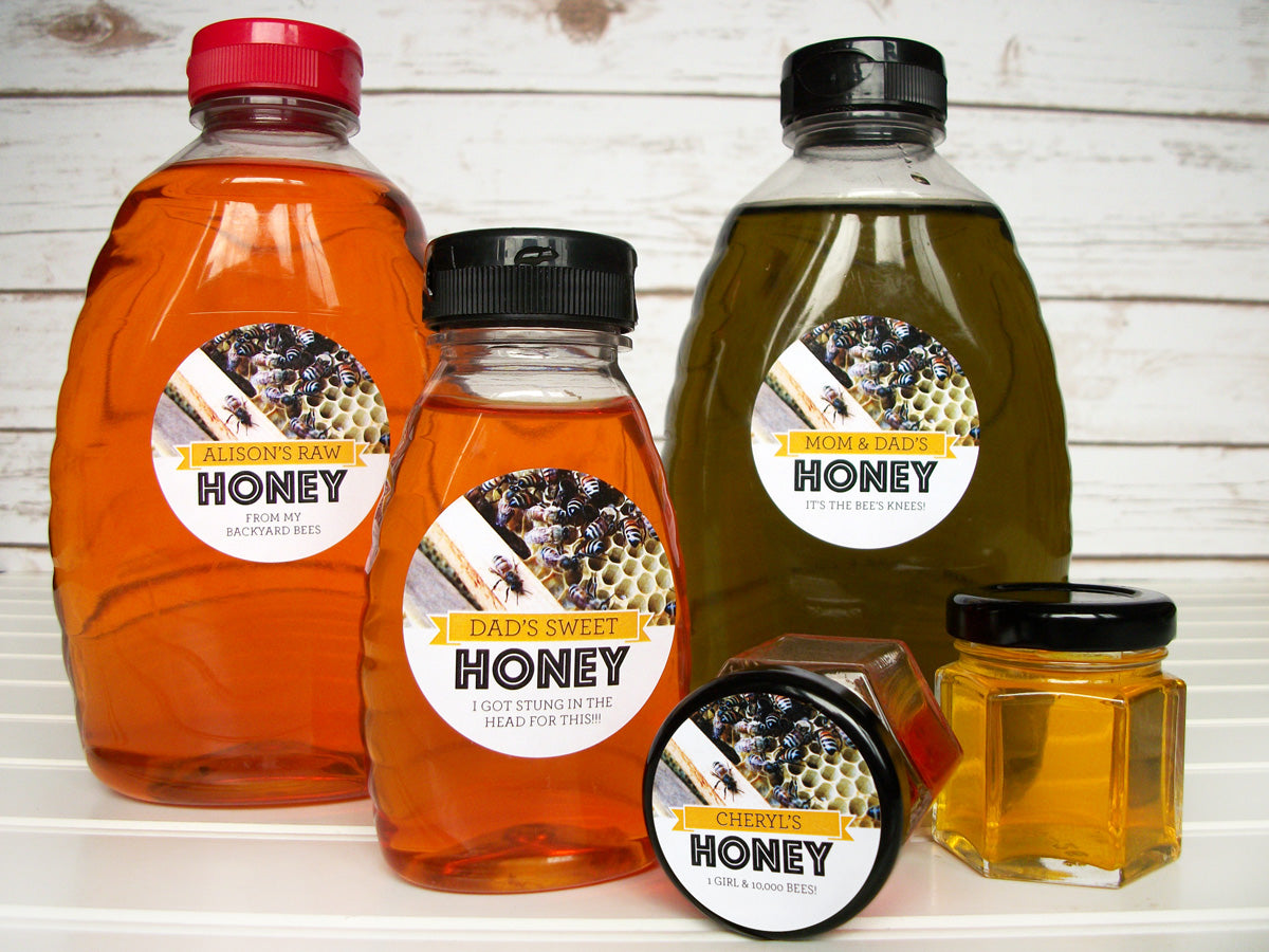 Busy Bees Custom Honey Bottle Labels | CanningCrafts.com