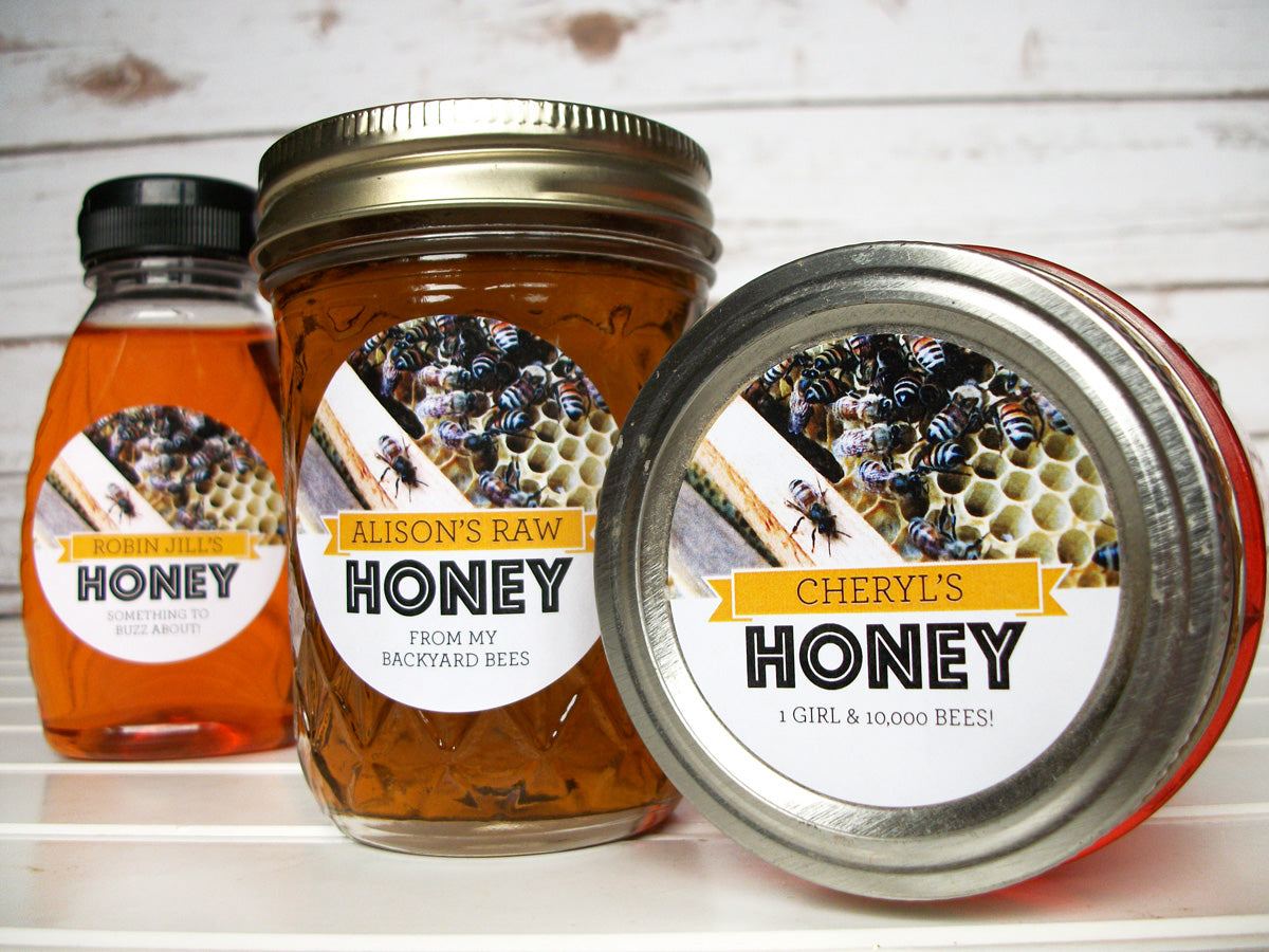 Busy Bees Custom Honey Jar Labels | CanningCrafts.com