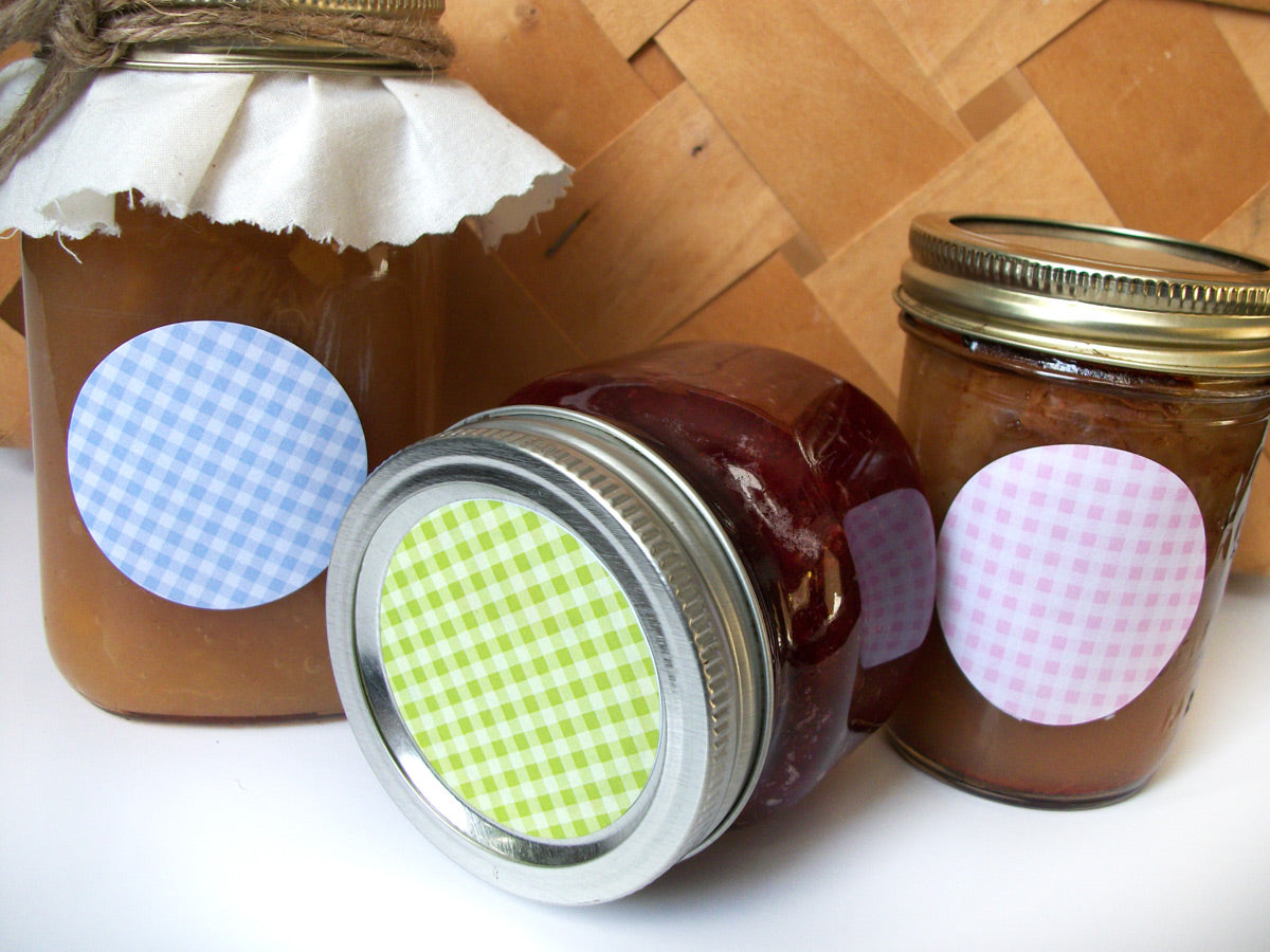 Checkered canning jar labels | CanningCrafts.com