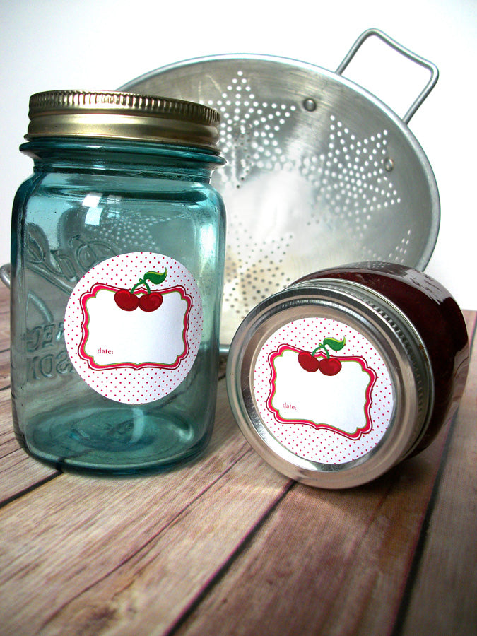 Cherry Canning Jar Labels | CanningCrafts.com