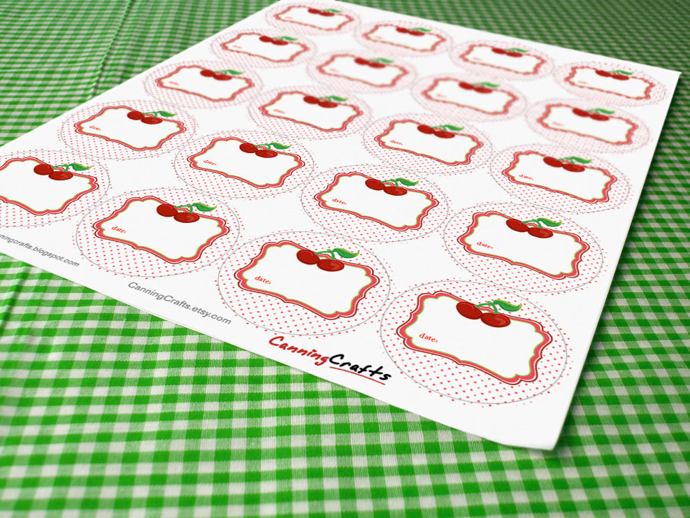 Cherry Canning Labels | CanningCrafts.com