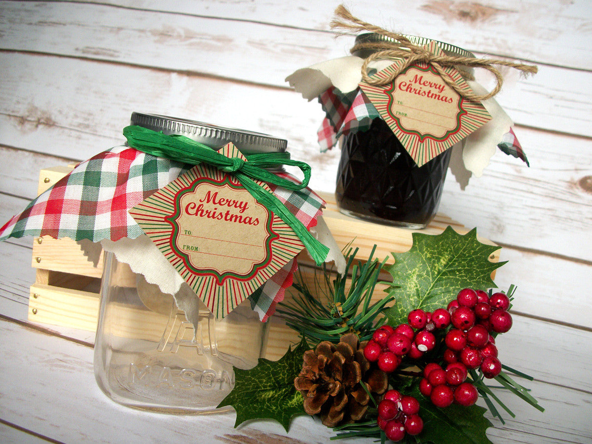 Christmas Jam Jar Covers | CanningCrafts.com