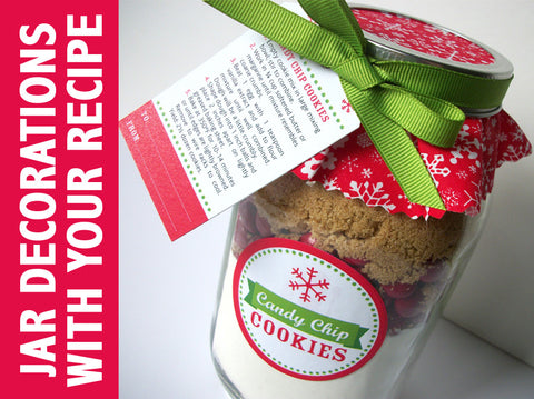 Christmas Cookie Mason Jar Gift | CanningCrafts.com