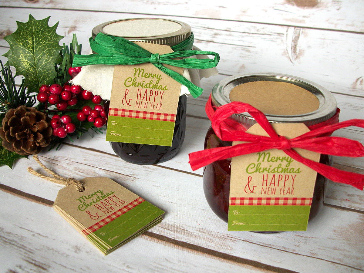 Merry Christmas Kraft Paper Hang Tags  | CanningCrafts.com