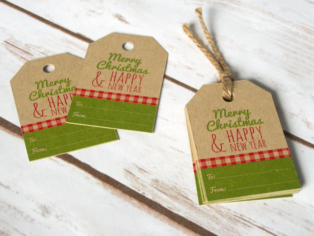 Merry Christmas Hang Tags  | CanningCrafts.com