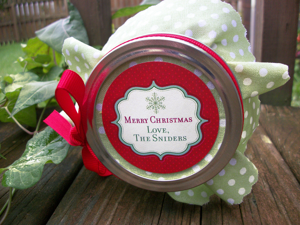 Custom Red Christmas Canning Labels | CanningCrafts.com