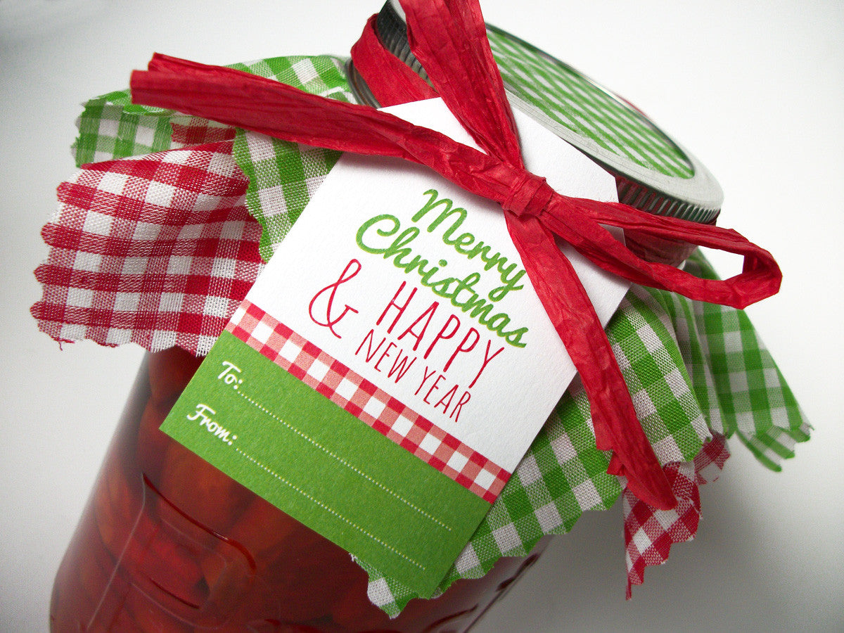 Christmas Gingham Jam Jar Decoration Set For Holiday Mason Jar Gifts Canningcrafts