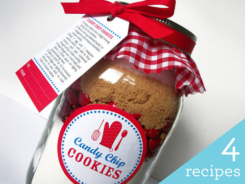 DIY Cookie Mason Jar Kit, 4 recipes to choose from | CanningCrafts.com
