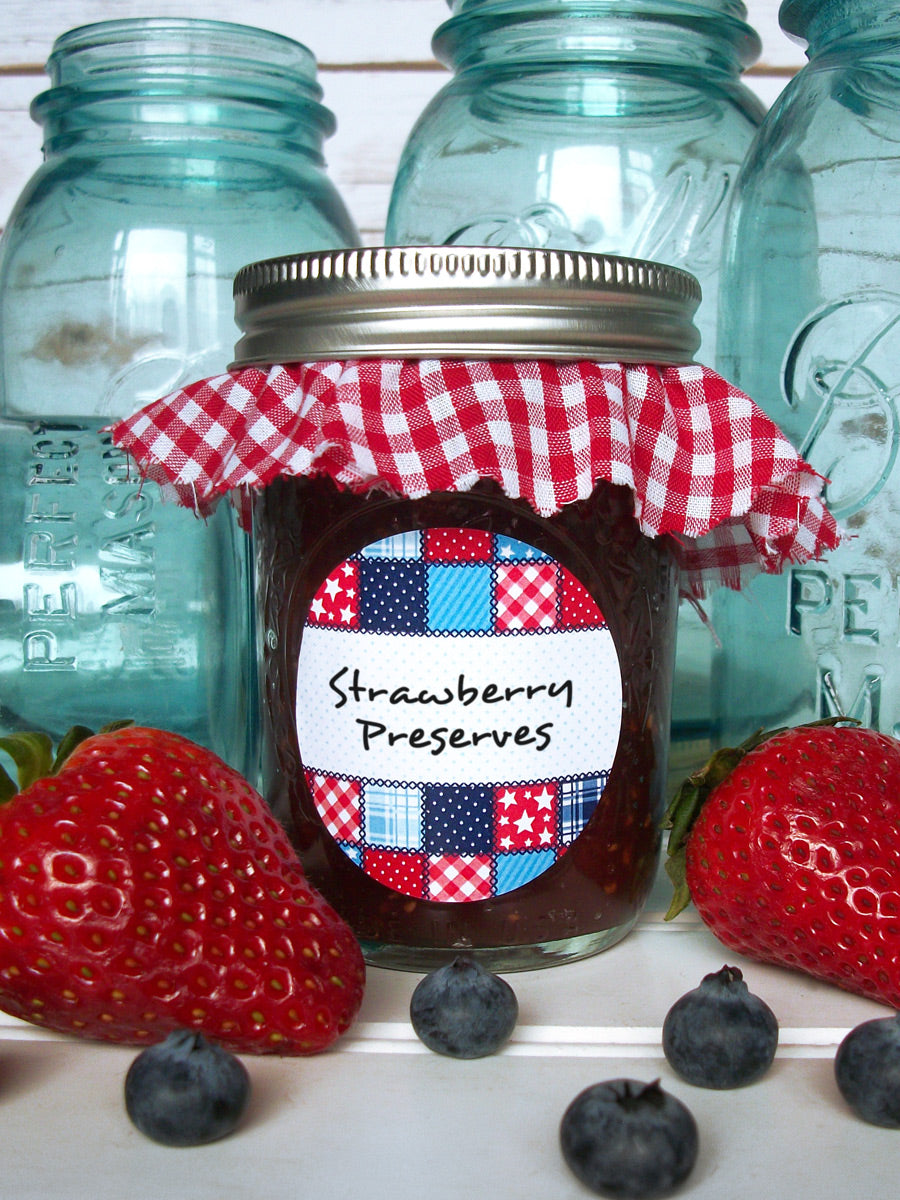 Country Quilt Jam & Jelly Jar Canning Labels | CanningCrafts.com
