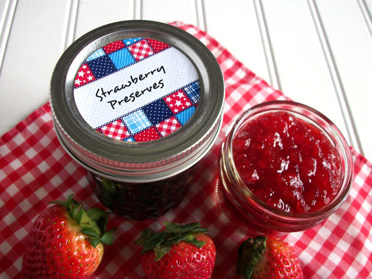 Country Quilt Canning Jam & Jelly Jar Labels | CanningCrafts.com