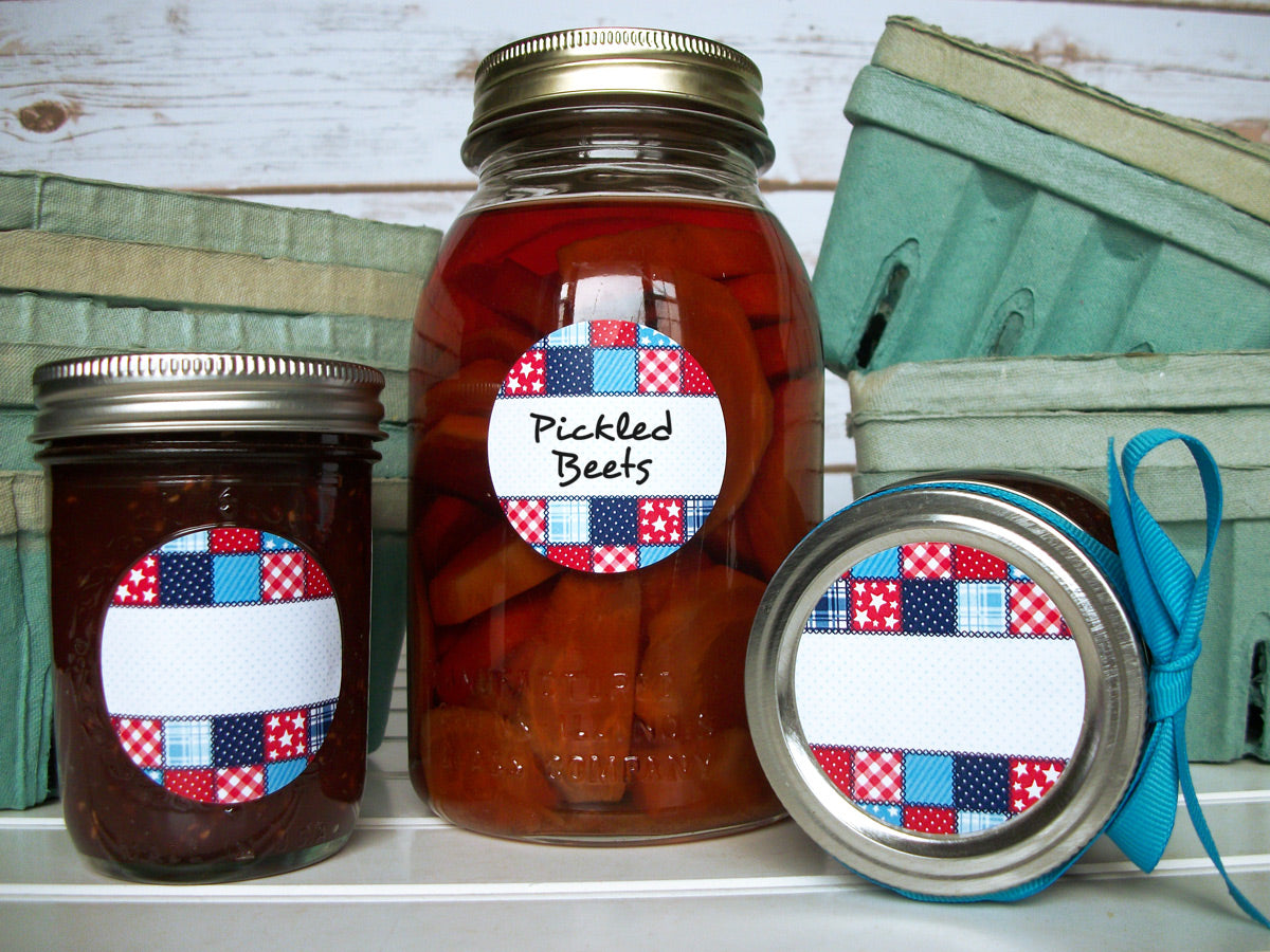 Country Quilt Canning Labels | CanningCrafts.com