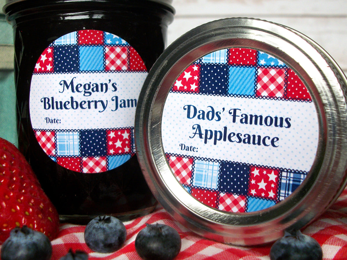 Custom Country Quilt Canning Labels | CanningCrafts.com
