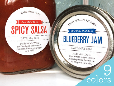Custom Foodie's Delight Canning Labels | CanningCrafts.com