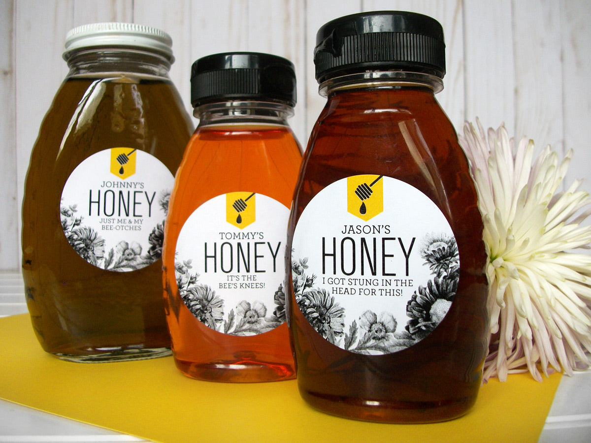 Custom Honey Dipper Honey Bottle Labels | CanningCrafts.com
