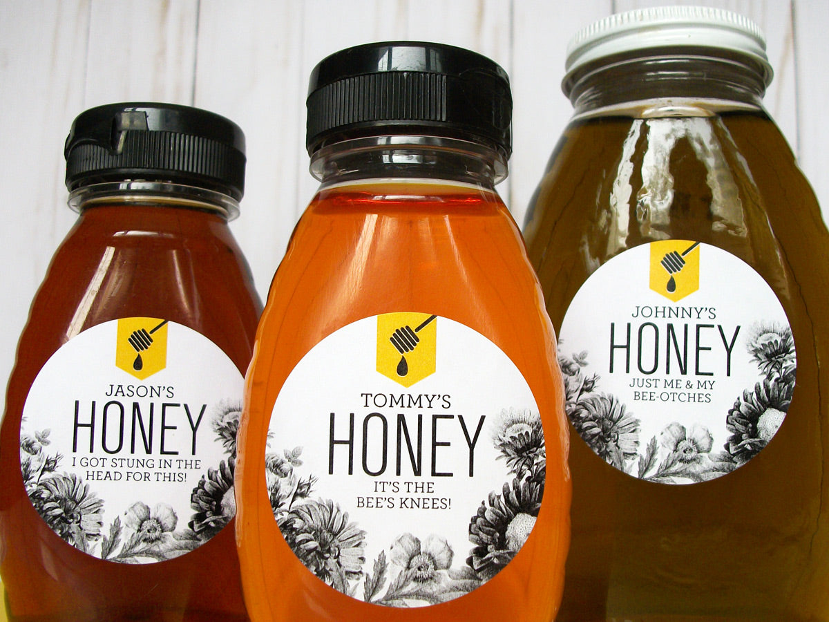 Custom Honey Dipper Honey Labels | CanningCrafts.com