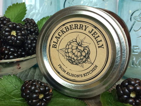 Custom Kraft Apothecary Blackberry Jam and Jelly Canning Labels | CanningCrafts.com
