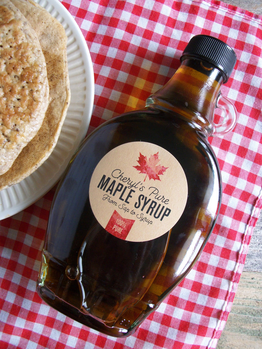 Custom Kraft Maple Syrup Bottle Labels | CanningCrafts.com