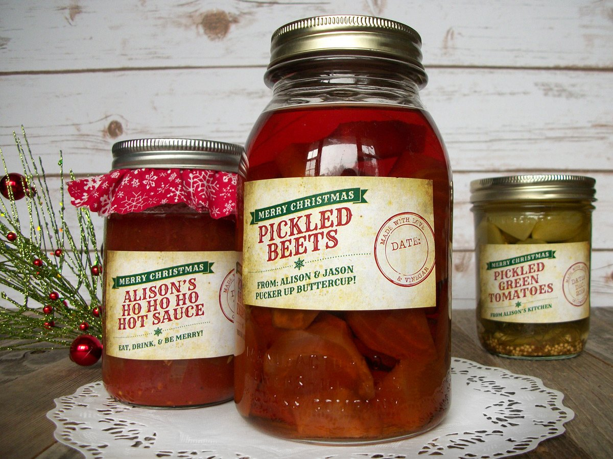 Custom Nostalgic Christmas Rectangle Canning Labels | CanningCrafts.com