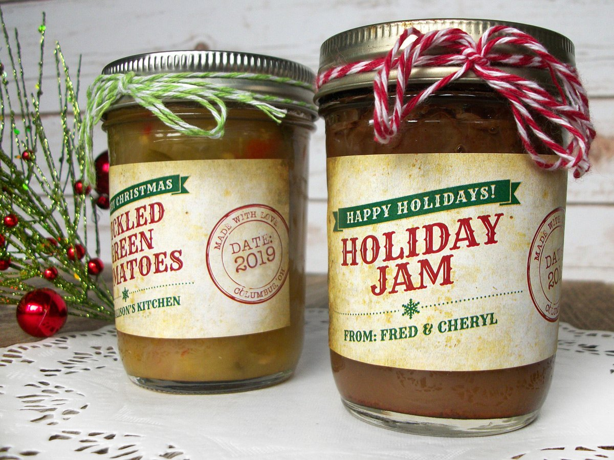 Custom Nostalgic Christmas Rectangle Jam & Jelly Jar Labels | CanningCrafts.com