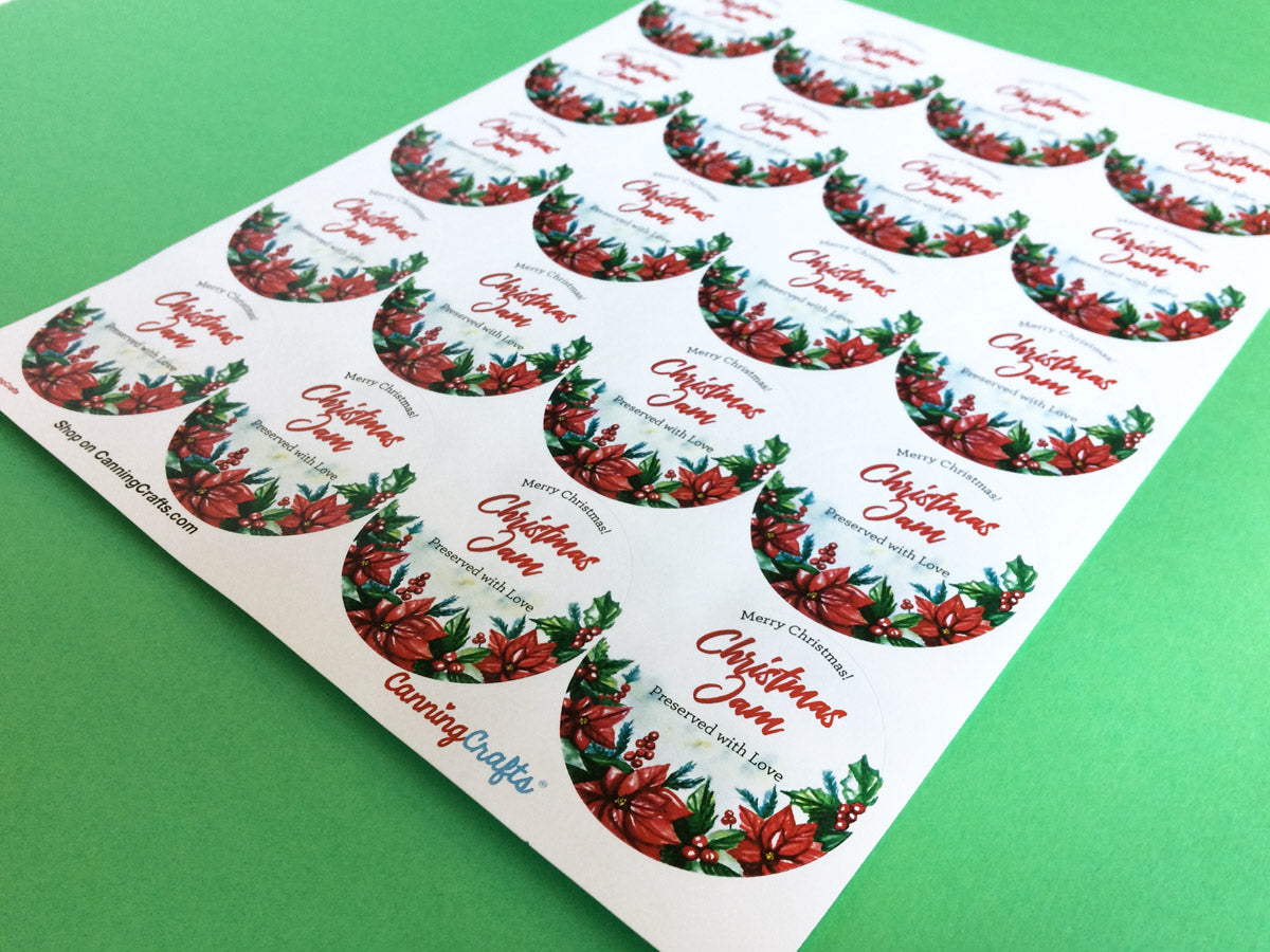 Custom Watercolor Christmas Canning Labels | CanningCrafts.com