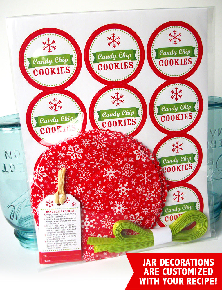 Christmas Cookie Mix in a Mason Jar Gift | CanningCrafts.com