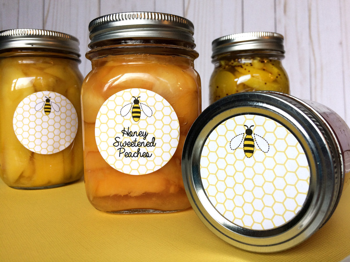 Cute Honey Bee Canning Jar Label | CanningCrafts.com