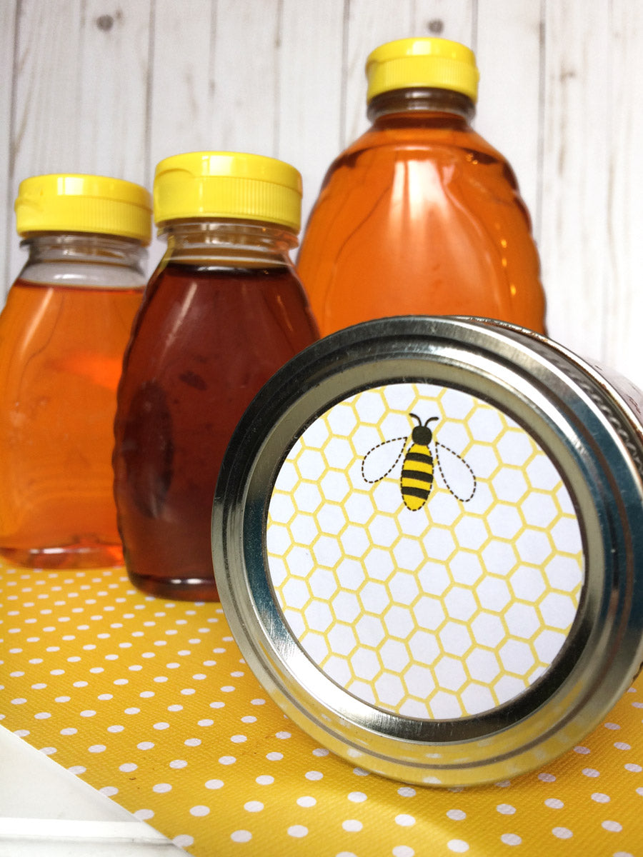 Cute Honey Bee Canning Label | CanningCrafts.com