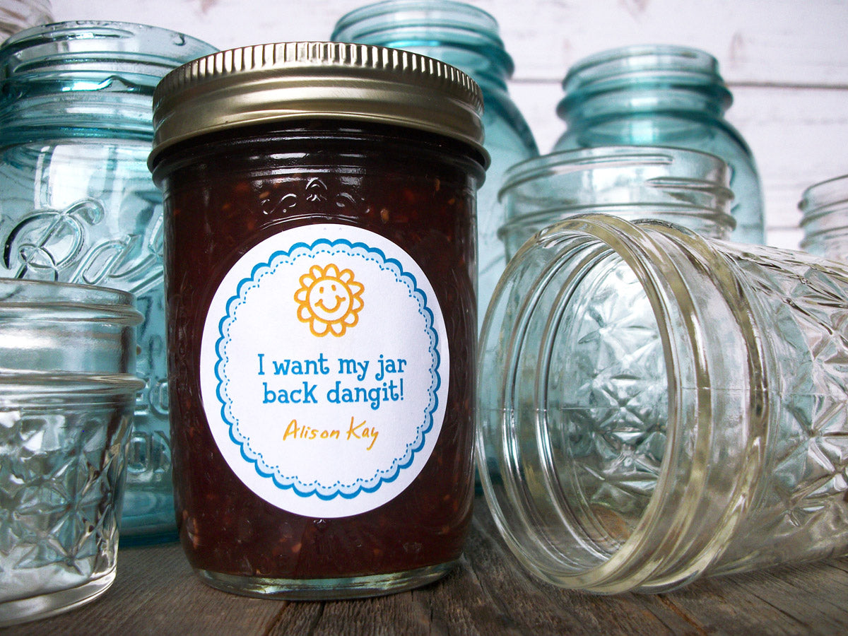 Custom I Want My Jar Back Dangit Return Jar Canning Labels | CanningCrafts.com
