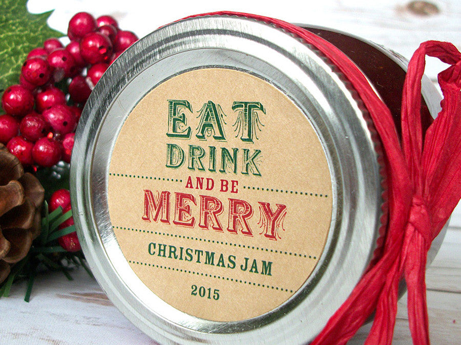 Christmas Canning Labels