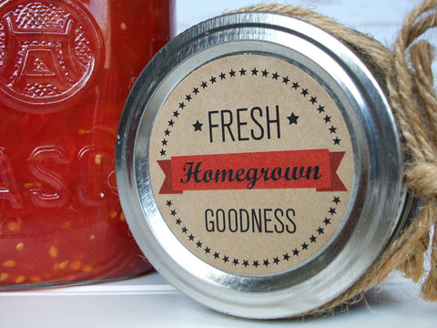 Kraft Fresh Homegrown Goodness Canning Labels | CanningCrafts.com