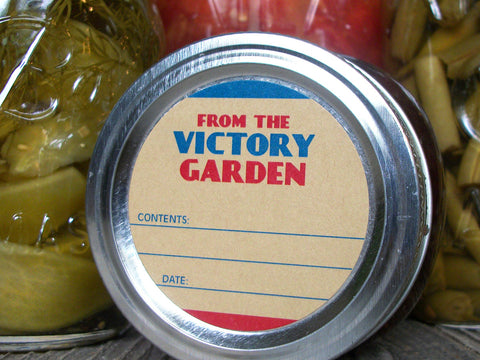 From the Victory Garden Canning Labels | CanningCrafts.com