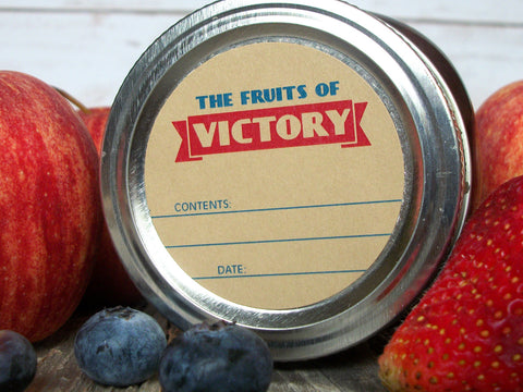 Fruits of victory garden canning labels | CanningCrafts.com
