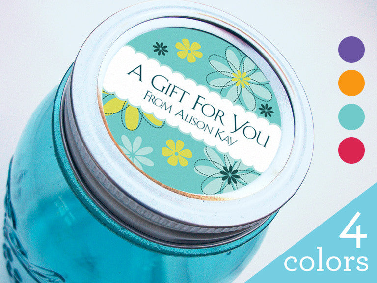 Custom Gift Flower Canning Labels | CanningCrafts.com
