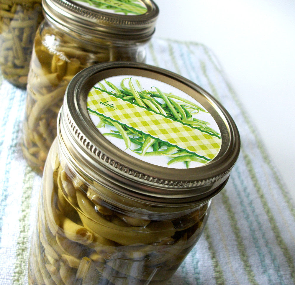 Green Bean Canning Labels