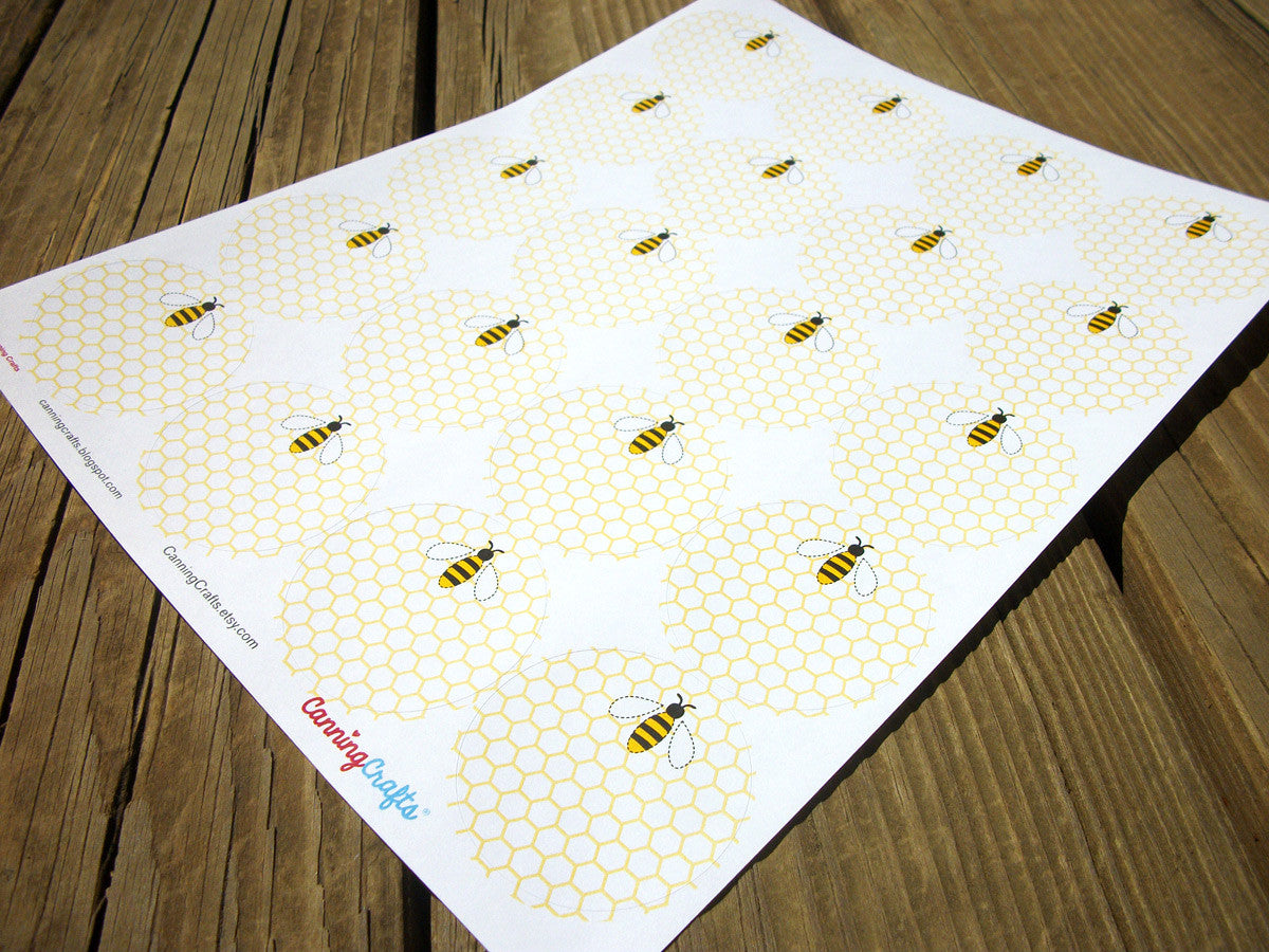 Cute Honey Bee Canning Labels | CanningCrafts.com