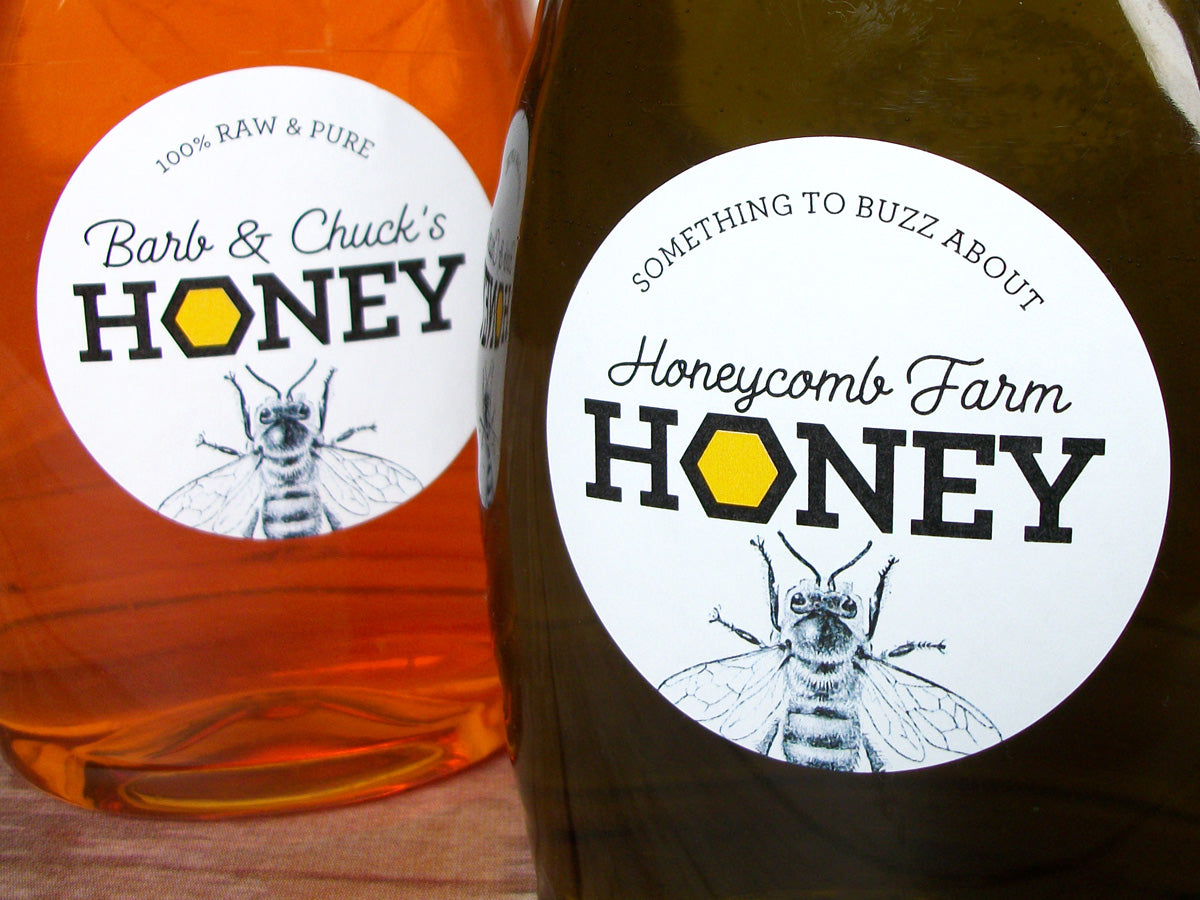 Custom Honeycomb Honey Labels | CanningCrafts.com