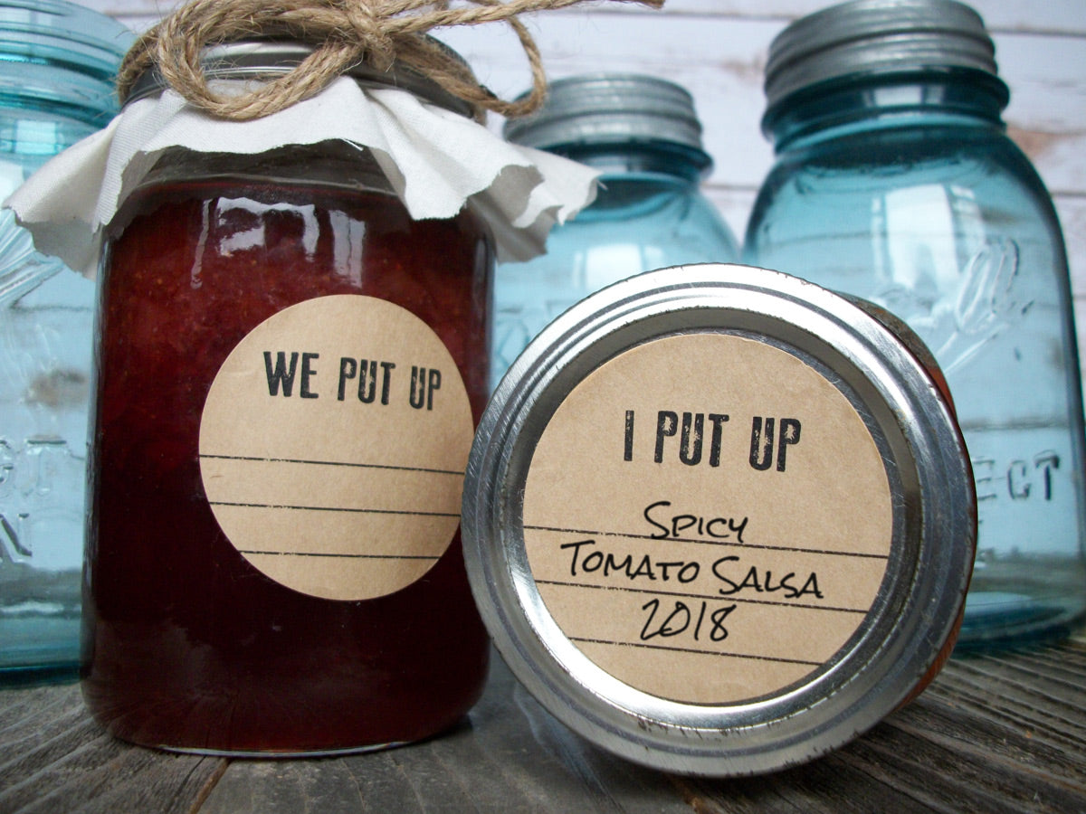 Kraft I Put Up & We Put Up Canning Jar Labels | CanningCrafts.com