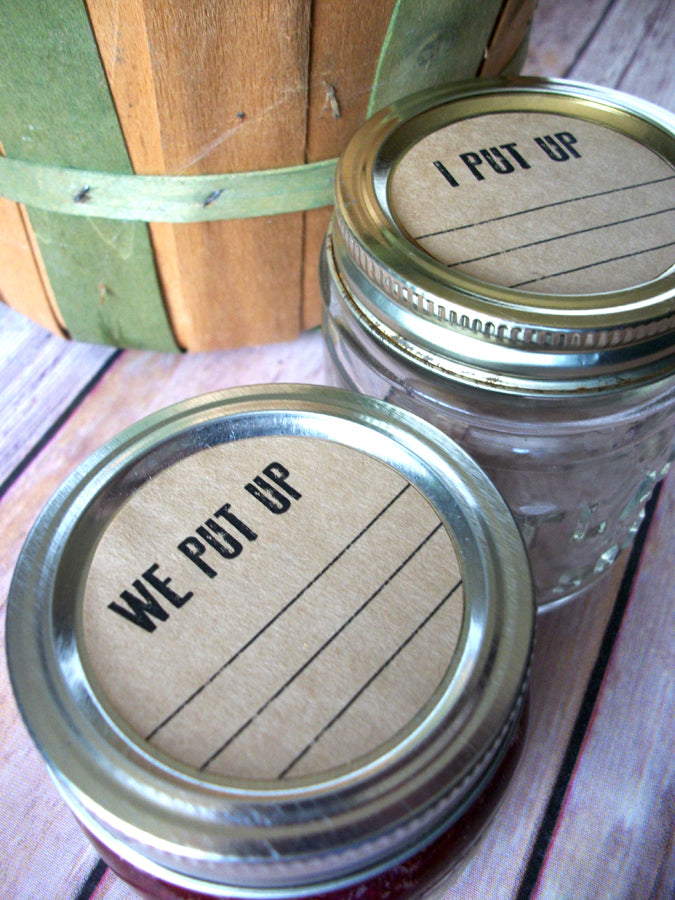 Kraft I We Put Up Victory Garden Canning Labels | CanningCrafts.com