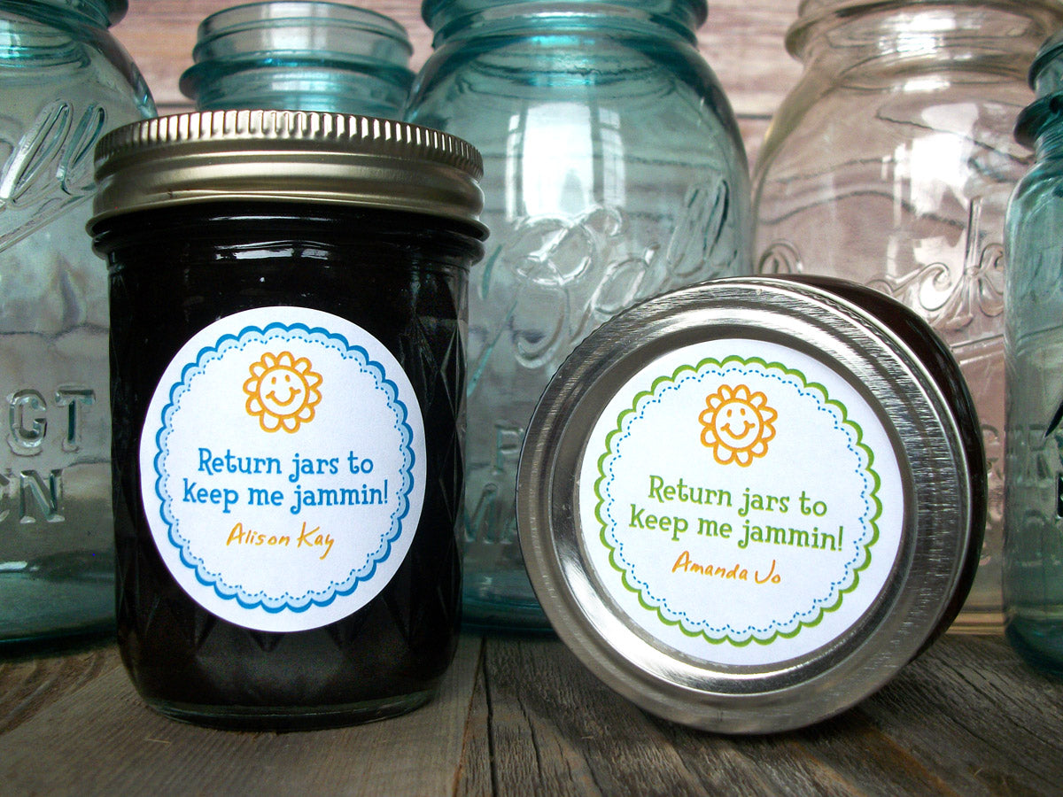 Custom Return Jars to Keep Me Jammin Canning Labels | CanningCrafts.com