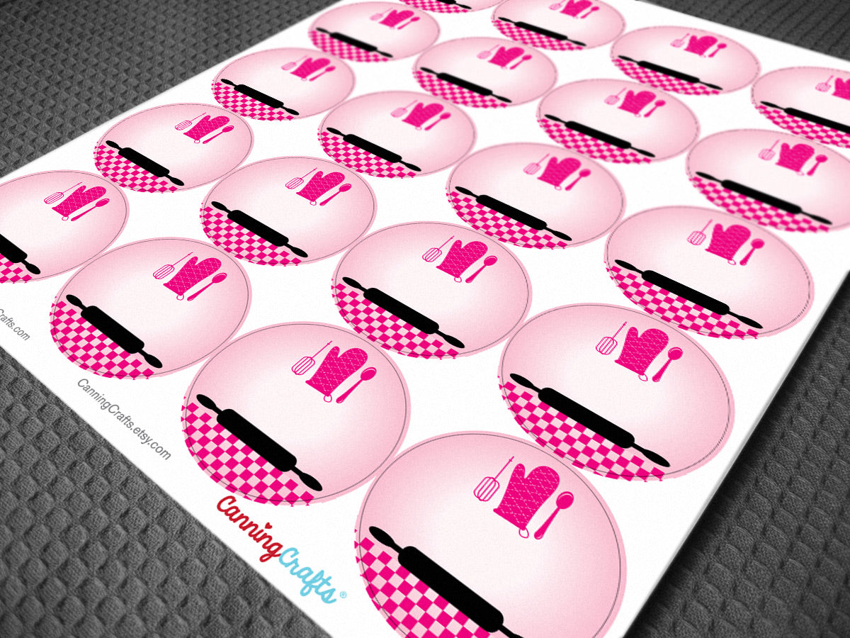 Hot Pink Kitchen canning jar labels | CanningCrafts.com