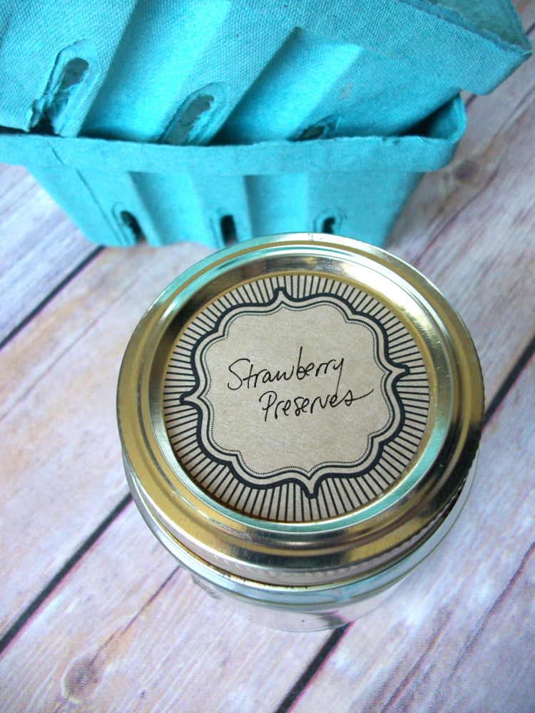 Retro Kraft Burst Canning Labels | CanningCrafts.com