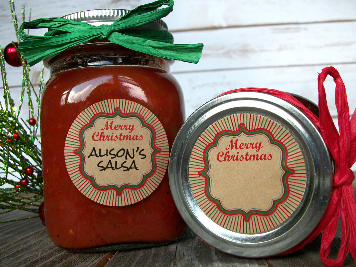 Kraft Merry Christmas Canning Jar Labels | CanningCrafts.com