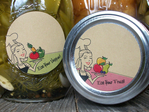Kraft eat your fruit & vegetables canning labels | CanningCrafts.com