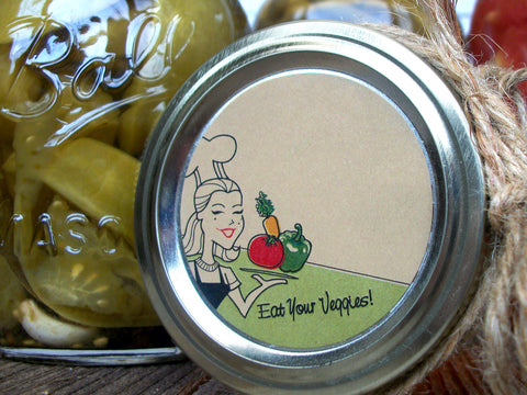 Kraft Eat Your Vegetables Canning Labels | CanningCrafts.com
