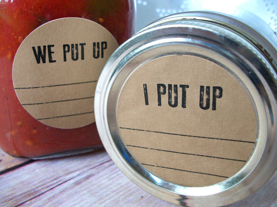 Kraft I Put Up & We Put Up Canning Labels | CanningCrafts.com