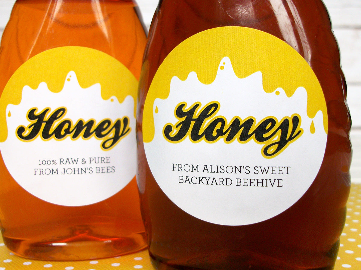 Liquid Gold Custom Honey Labels | CanningCrafts.com