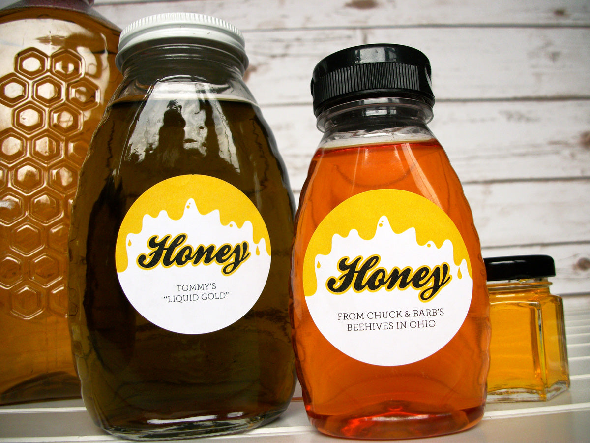 Liquid Gold Custom Honey Bottle Labels | CanningCrafts.com